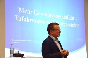 Christoph Schlachte, Organisationsberater & Business Coach beim Impuls Vortrag beim BVMW in Nürnberg: Gewinnermentalität - Erfahrungen und Stolpersteine